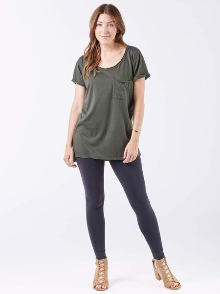 Relaxed Fit Crew Top
